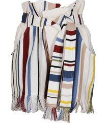 ambush multicolor linen-cotton blend shorts