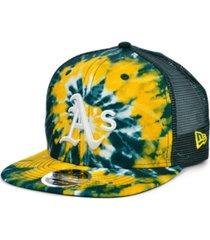new era oakland athletics tie dye mesh back 9fifty cap