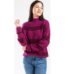 alice stripe knit sweater - pink