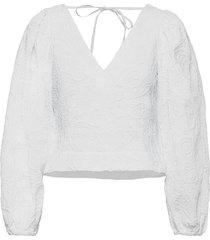 anai blouse 13089 blus långärmad vit samsøe samsøe