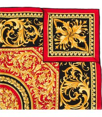 versace barocco print scarf - gold