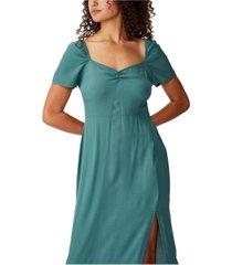 cotton on woven faye split midi dress