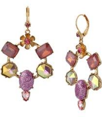 betsey johnson stone gypsy hoop earrings