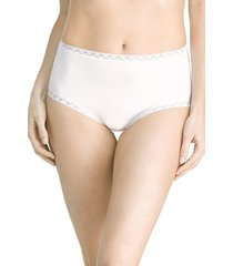 natori bliss full brief panty underwear intimates, women's, white, cotton, size m natori