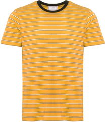 ami striped short sleeves t-shirt - jaune e18j131.717-700