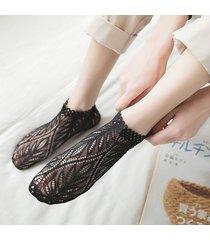 donna sottile traspirante profondo invisible lace boat calze vogue casual soft caviglia calze