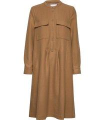 paula dress knälång klänning brun lovechild 1979