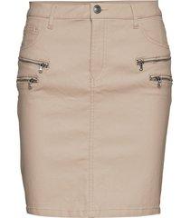 aida-sk-cooper kort kjol beige free/quent