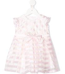 aletta striped bow-embellished dress - pink