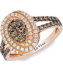 le vian chocolatier® 14k strawberry gold®, chocolate diamonds® & vanilla diamonds® ring