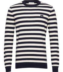 etienne cashton knit gebreide trui met ronde kraag blauw les deux