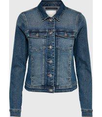 chaqueta only azul - calce ajustado