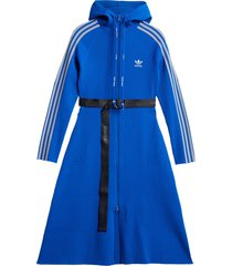 adidas x angel chen belted hooded dress - blue