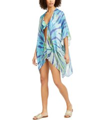tommy hilfiger tie-dyed kimono swim cover-up women's swimsuit
