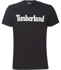 t-shirt korte mouw timberland ss kr linear regular tee black