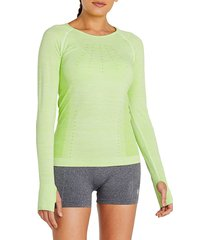 eleven by venus williams women's absolute long-sleeve top - sharp green - size l