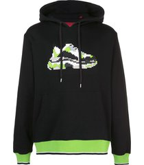 mostly heard rarely seen 8-bit mint wave jersey hoodie - black