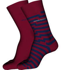 men's boss 2-pack assorted crew socks, size one size - red