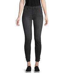 le skinny side-split coated jeans
