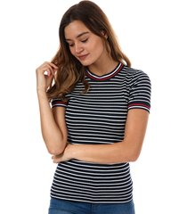 only womens lou striped t-shirt size 4 in blue