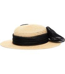 'brigitte' sinamay bow straw hat