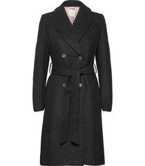 coat ls trenchcoat lange jas zwart rosemunde