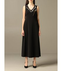 boutique moschino dress boutique moschino dress with needle and string of pearls
