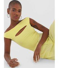 blusa forum canelada amarela