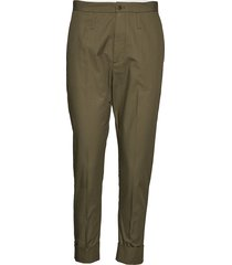 law trouser pantalon met rechte pijpen groen hope