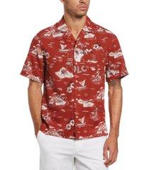 original penguin men's aloha tropical-print camp shirt