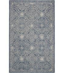 lauren ralph lauren etienne lrl6603m blue and ivory 9' x 12' area rug