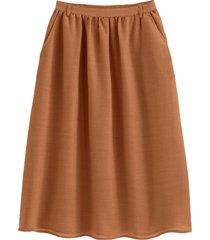 lång kjol i glesvävt yllematerial
