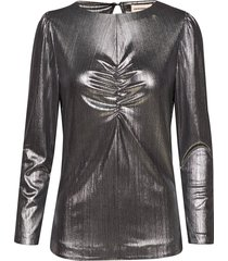 sabina blouse lange mouwen zilver custommade