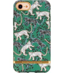 richmond & finch green leopard case for iphone 6/6s, 7 and 8