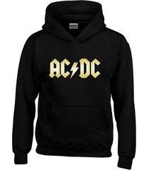 buzo ac dc metallica con capota saco buso hoodies