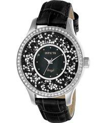 reloj invicta 24592 negro cuero dama