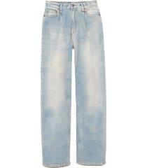 damon pleated wide leg jean in lennon blue