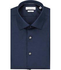 calvin klein heren overhemd cannes donkerblauw fitted