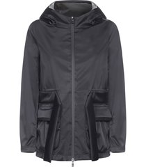 herno laminar hooded and belted nylon jacket