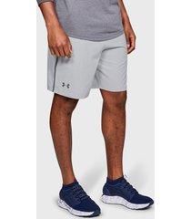 short under armour ua qualifier wg perf shorts gris - calce regular