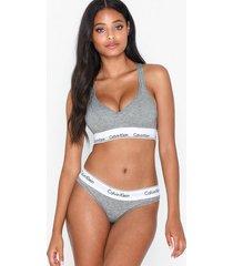 calvin klein underwear modern cotton bikini brief briefs grå melange