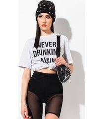 akira never drinking again t-shirt