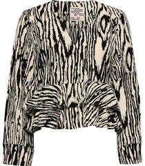 maloua blouse lange mouwen zwart baum und pferdgarten