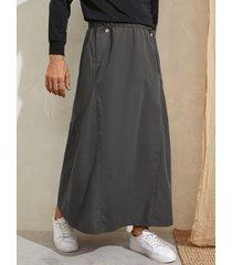 falda suelta con cintura elástica estilo artes marciales para hombres vendimia