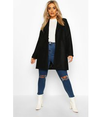 plus jas met dubbele knopen, zwart