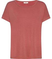fenya modal tee t-shirts & tops short-sleeved röd moss copenhagen