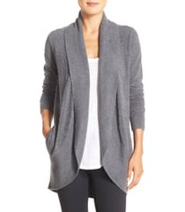 women's barefoot dreams cozychic lite circle cardigan, size x-small/small - grey