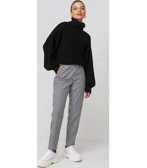 donnaromina x na-kd checked suit pants - black,multicolor