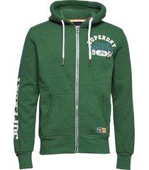 track & field ziphood hoodie trui groen superdry