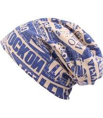cappello da uomo in maglia da donna casual stampato in cotone con stampa a lettera hip hop beanie skullies cappello casual soft